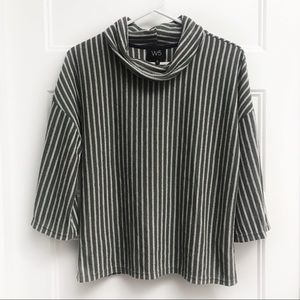 W5 (Anthro) Striped Cowl Neck Top